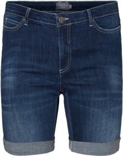 JUNAROSE Regular Waist Shorts Kvinder Blå