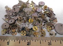 10g/bag Steampunk Gears Vintage Steampunk Wrist Watch Old Parts Gears Wheels Steam Punk Lots DIY