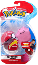 Pop Action Poke Ball Ditto + Throw Poke Ball Plush -