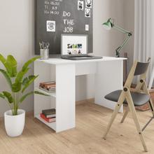 vidaXL Skrivebord hvit 110x60x73 cm sponplate