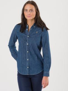 Ralph Lauren, DENIM SHIRT, Blå, Skjorter till Pige, Size 8