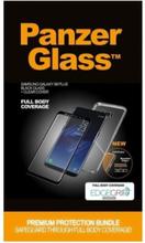 Samsung Galaxy S8 Black w/ Clear EdgeGrip (Premium Glass)