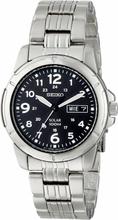 Seiko Men's Solar Analogue Stainless Steel Uhr SNE095P1