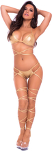 Lace Up Lover Set Guld