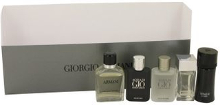 ARMANI by Giorgio Armani - Gift Set -- Travel Set Includes.14 oz Mini Armani Code, .14 oz Mini Emporio Armani Diamonds,.17 oz Mini Acqua Di Gio, .24 oz Mini Armani and .17 oz Mini Acqua Di Gio Profumo - til mænd