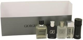 ARMANI by Giorgio Armani - Gift Set Travel Set Includes Armani Code, Emporio Armani Diamonds, Acqua Di Gio, Armani and Acqua Di Gio Profumo - til mænd