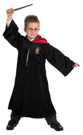 Lyxig Harry Potter kåpa - Maskeradkläder för barn 117 - 128 cm (7 - 8 år)