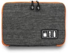 eStore Veske for oppbevaring av ledninger og elektronisk tilbehør - Grå