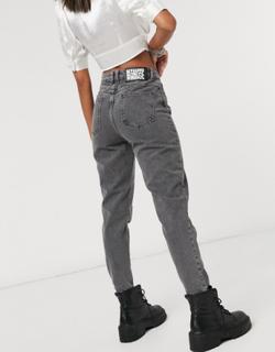 Reclaimed Vintage - Tapered 89'er-jeans i vintage grey wash-Grå