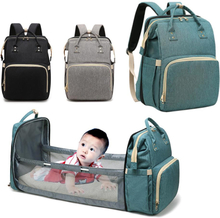 Multi-purpose Diaper Bag Large Capacity Portable Travel Baby Bag Retrachable Bassinet and Changing Station