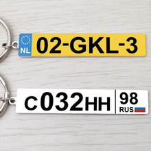 Car Number Plate Keychain,Any Country Personalized Number Plate Keychain,Engraved Number Plate Key Ring,Anti-lost Keyring