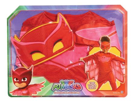 Pj Masks Owlette Hero Maskeraddräkt - Pyjamashjältarna 4-6år !