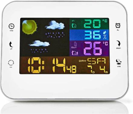Nedis Trådlös Väderstation och Klocka med Alarm 402WT