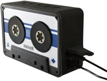 Maxell BT90 Retro Cassette Bluetooth v4.1 Speaker Silver/Svart