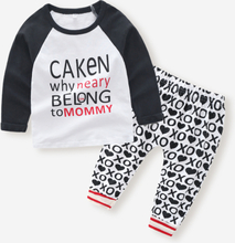 Baby Letter Print Langarm Kleidungsset für 6-24M