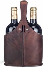 CAB Köket Vinväska för 2st flaskor Brun