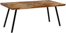 vidaXL Matbord massivt teakträ och stål 180x90x76 cm