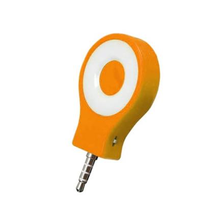 Kompakt Selfie Lampa med Tre Ljuslägen - Orange