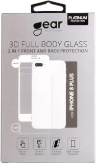 GEAR Härdat Glas 3D 2in1 Front & Back iPhone8 Plus