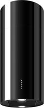 Design frihängande cylinderformad köksfläkt Round svart blank
