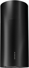 Design frihängande cylinderformad köksfläkt Round svart matt