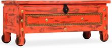 vidaXL Förvaringskista massivt mangoträ 101x39x42 cm röd