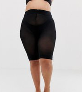 ASOS DESIGN - Curve - Shorts med anti-skav - Svart