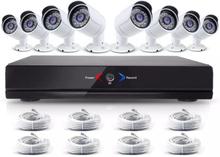CCTV-reseller Stort övervakningssystem 2.0MP, 8 st övervakningskameror med POE