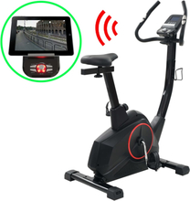 vidaXL Motionscykel magnetisk drift och pulsmätning programmerbar