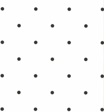 Fabulous World Tapet Dots vit och svart 67105-3