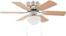 vidaXL Dekorativ takfläkt med lampa 82 cm ljusbrun