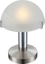 GLOBO Bordslampa LED OTTI krom glas 21934