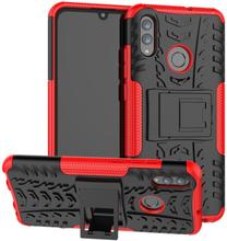 Huawei P Smart 2019 Anti-Slip Hybrid Etui - Rød