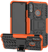 Huawei P Smart 2019 Anti-Slip Hybrid Etui - Oransje