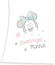 Mickey Mouse - Good Night Minnie -Baby-Decke - hvit