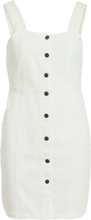VILA Sleeveless Denim Dress Women White