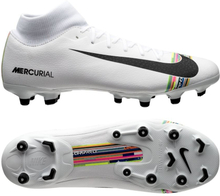 size 40 6626a f5ea1 Nike Mercurial Superfly 6 Academy MG LVL UP - Grå Svart Vit