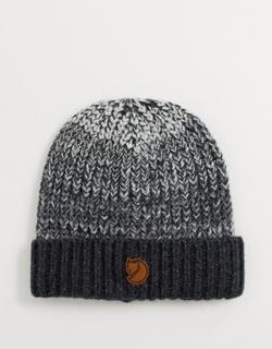Fjallraven chunky knitted beanie in dark grey