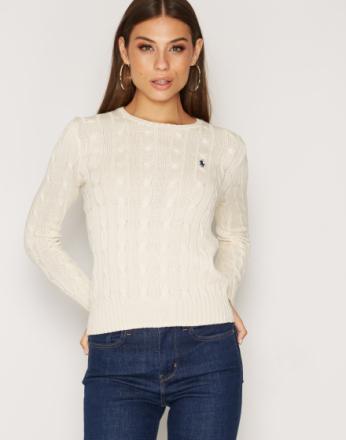 Strikkede gensere - Cream Polo Ralph Lauren Julianna Long Sleeve Sweater