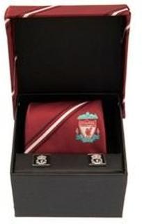 Liverpool Slips & Mansjettknapper - Rød/Sølv