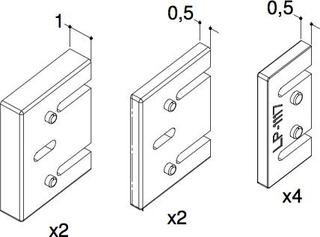 Dansani Air distansbrickor för väggjustering