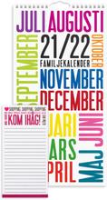 Väggkalender 21-22 Familjekalender TrendArt