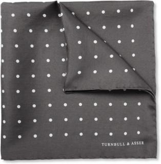 Polka-dot Silk Pocket Square - Gray