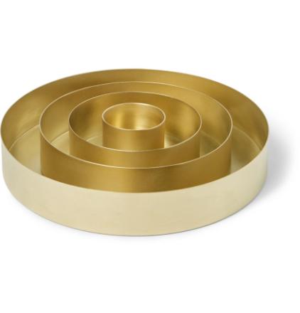 Orbit Set Of Four Brass Trays - Gold