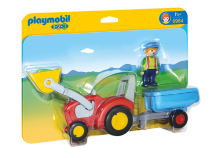PMB 6964 Landmand med traktor & anhænger - ToysRUs.dk