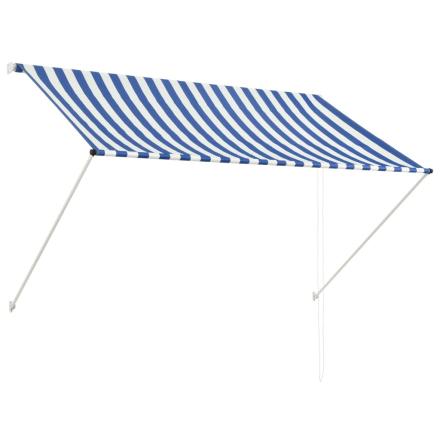 vidaXL foldemarkise 200 x 150 cm blå og hvid