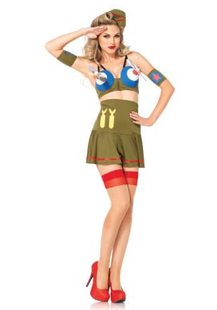 Leg Avenue - Bomber Girl Costume - Medium (8518402126)