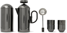 Brew Coated Stainless Steel Cafetiere Set - Black