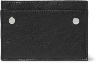 Arena Creased-leather Cardholder - Black