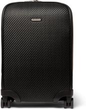 Pelle Tessuta Leather Carry-on Suitcase - Black